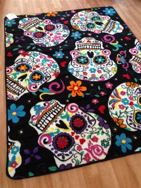 Sugar Skull Rug New Sugar Skull Rugs Tattoo Art Day Of The Dead