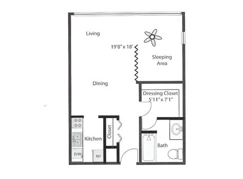 550 square feet floor plan efficiency