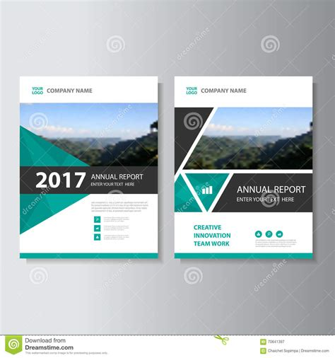 Annual Report Template Circle And Triangles Hossain Triangle Vector Annual Report Leaflet Brochure Flyer