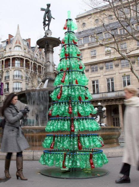 christmas trees made of bottles the world s weirdest trees metro news