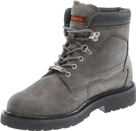 grey motorcycle boots harley davidson men s bayport 5 5 inch brown or grey