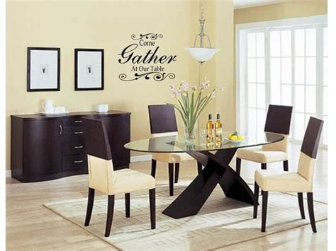 dining room wall art ideas come gather at our table wall art decal decor kitchen