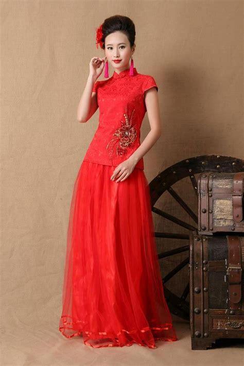 Mm Rok Import 88 000 Import Brukat dress cheongsam panjang merah modern 2015 model terbaru jual murah import kerja