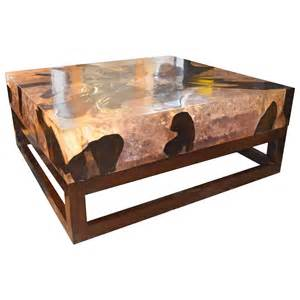 cracked resin coffee table for at 1stdibs