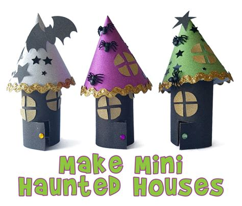 haunted house crafts for make haunted houses out of toilet paper rolls