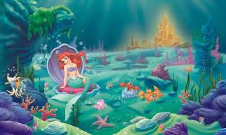 Ariel the little mermaid wall murals for girls rooms