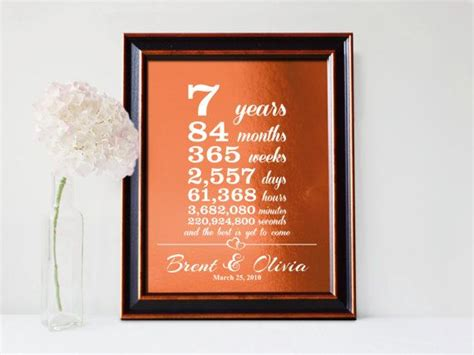 best 25 7th anniversary gifts ideas on 7th wedding anniversary gift for marriage