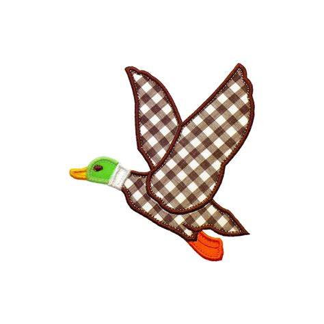 embroidery design duck flying duck applique machine embroidery designs pattern in 3