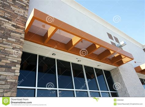 Shed With Porch Plans modern metal awning over storefront stock photo image of