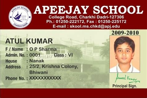 design college id card amdavad shop photo galary school college business id card