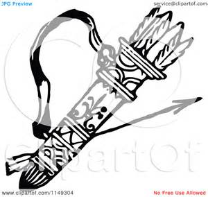 Of A Retro Vintage Black And White Archery Quiver Arrows sketch template