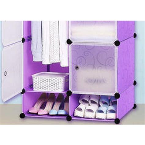 Lemari Plastik Pintu 3 lemari baju plastik diy 6 pintu purple jakartanotebook