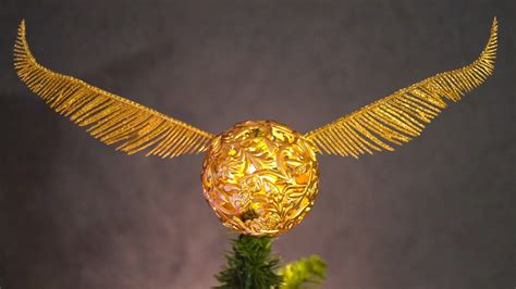 how to make a golden snitch tree topper harry potter