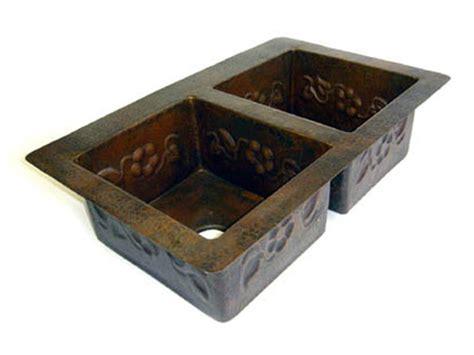 Copper Kitchen Sinks For Sale by Copper Kitchen Sink Bowl Flower Design 33x22x9