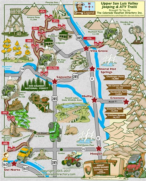 colorado jeep trail maps san luis valley jeeping atv map colorado vacation