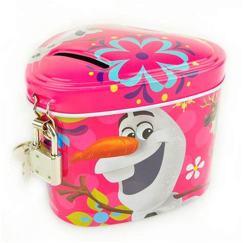 Disney Frozen Coin Bank disney frozen tin piggy coin bank w lock elsa olaf