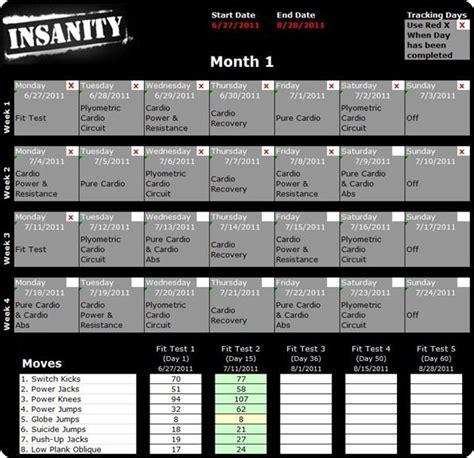 printable version of insanity workout calendar insanity schedule insanity calendar work outs