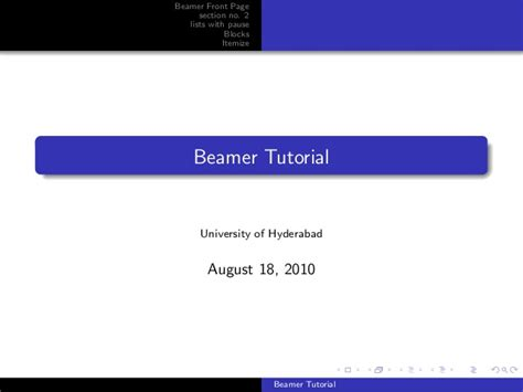 latex tutorial itemize beamer tutorial