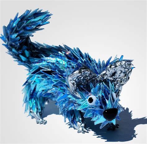 imagenes de animales reciclados escultura de animales hechas con cd s reciclados taringa
