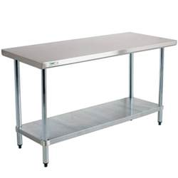 Stainless Steel Kitchen Work Tables Regency 18 24 Quot X 48 Quot 304 Stainless Steel Work Table With Undershelf