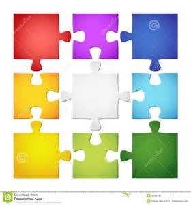 9 colored puzzle pieces stock vector image 41265781