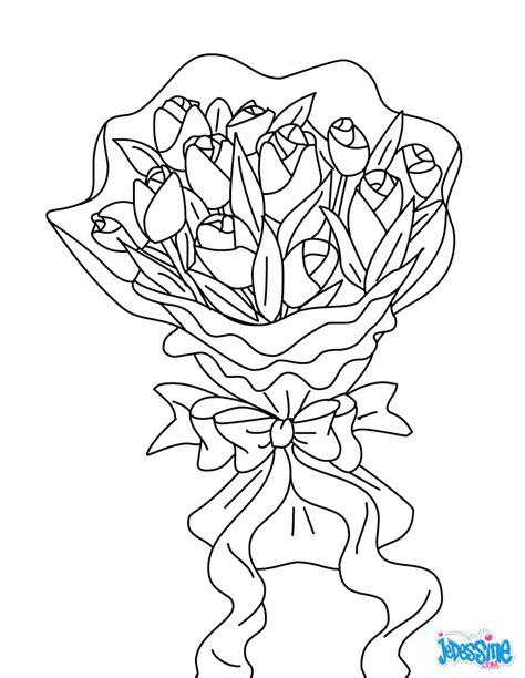 Coloriages Bouquet De Fleurs Fr Hellokids Com Coloriage Bouquet De Fleurs A Imprimer Dans Les Coloriages St L