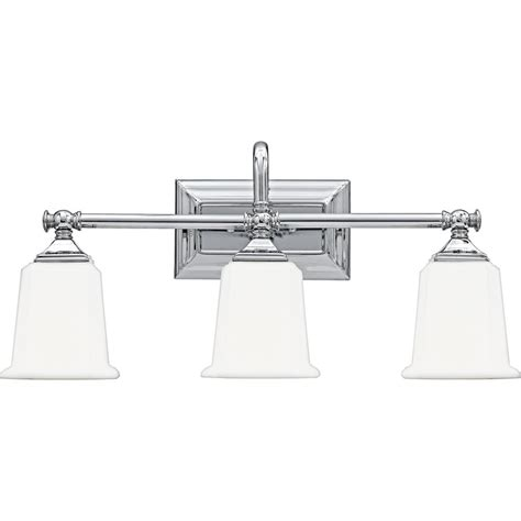 Chrome Bathroom Light Three Light Chrome Vanity Light Nl8603c Destination Lighting