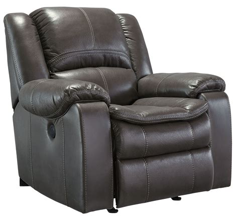 gray rocker recliner long knight gray power rocker recliner 8890698 ashley