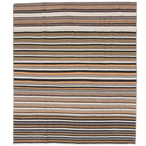 flat woven wool rug striped wool anatolian kilim flat woven rug for sale at 1stdibs