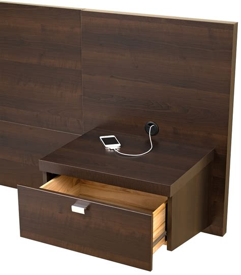 headboard with attached nightstands series 9 designer floating king size headboard with