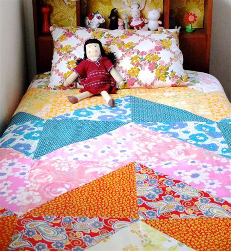 Free Patchwork Cot Quilt Patterns - chevron duvet cover favequilts