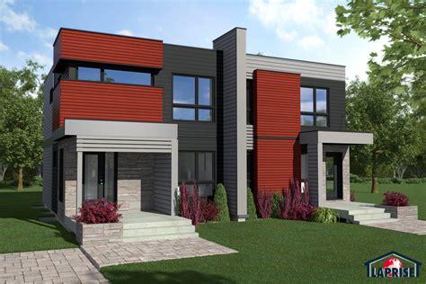Prefabricated Homes Floor Plans by Designer Zen Amp Contemporary Semi Detached Homes Lap0526 Maison Laprise Prefabricated Homes