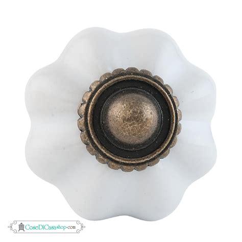 pomello ceramica pomello in ceramica di colore bianco in stile retr 242