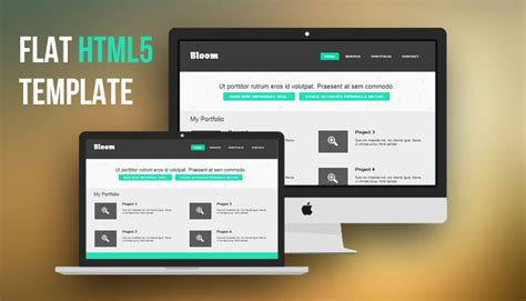 html header menu templates free flat html5 website template designbump
