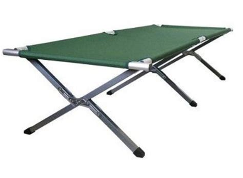 army cot bed deluxe folding military army style c cot outdoor portable heavy duty ebay