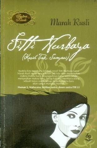 Sitti Nurbaya Oleh Mh Rusli sinopsis novel quot sitti nurbaya quot karya marah rusli sekolah daring