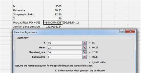 Statistik Deskriptif Konsep Dan Aplikasi Dengan Microsoft Excel Dan Spss Disket Penerbit menghitung distribusi normal dengan manual dan ms excel
