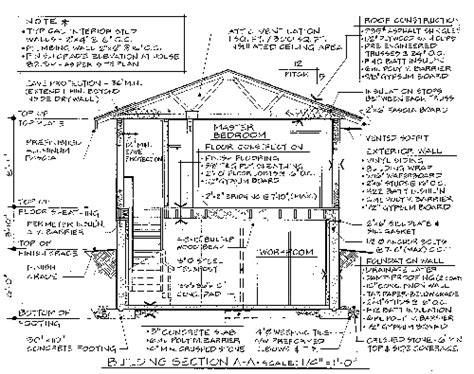 drawing section view rules building section drawing requirements
