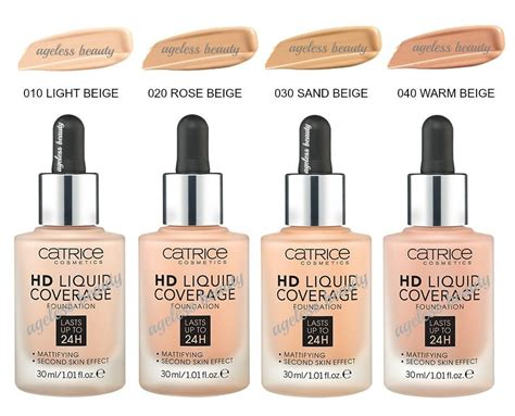Catrice Cosmetic Hd Liquid Coverage Foundation catrice hd liquid coverage foundation 24h mattifying effect great 4 summer 30ml ebay