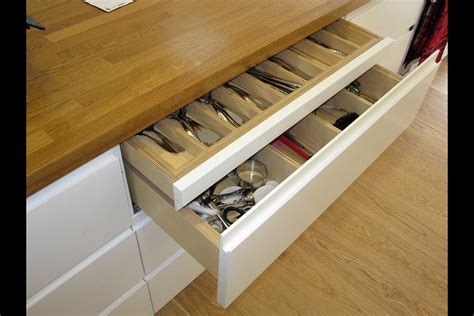 Kitchen Drawers Design Fabulous Wooden Countertops For White Kitchen Cabinetry Added Pull Out Kitchen Drawers On Wooden