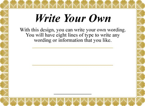 design your own certificates free printable certificates