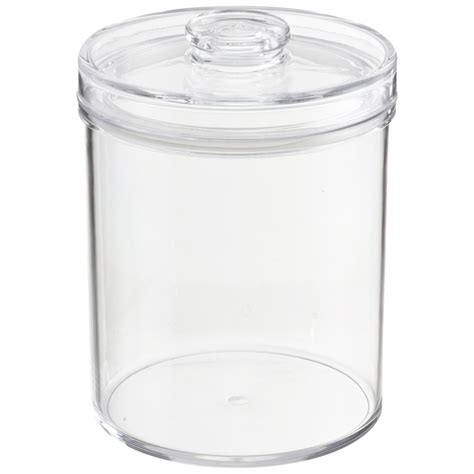 clear plastic kitchen canisters plastic canisters 32oz clear plastic jars with black ribbed lids 6 pack bpa free pet quart