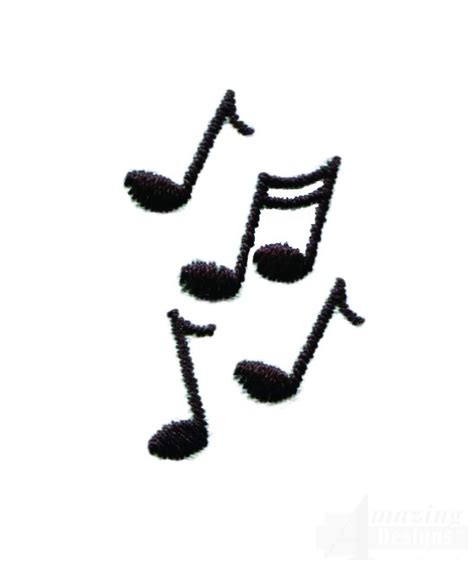 free design music music notes embroidery design