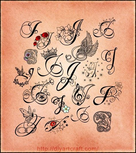 tattoo font design lettering j poster j for judy