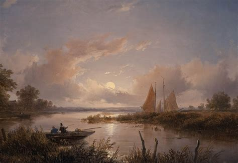 boat painting clouds landscape classic art wallpapers
