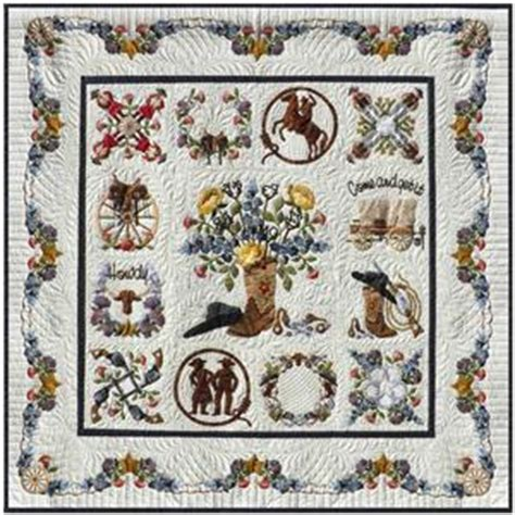 happy trails cowboy baltimore album applique 13 quilt