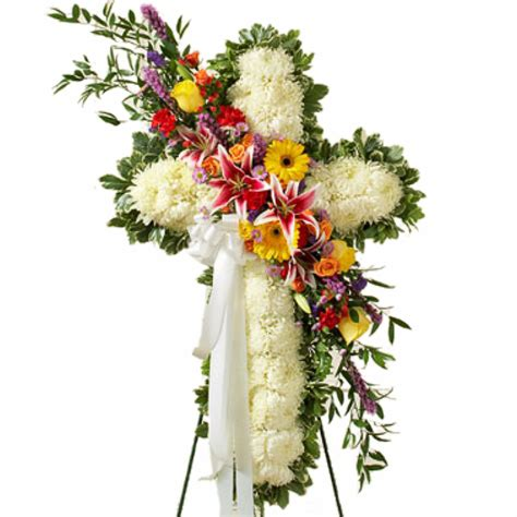 funeral cross flower quotes