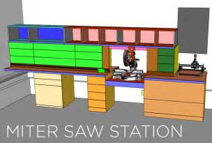 Miter Saw Cabinet Miter Saw Station Cabinets And Work Surface Jays Custom