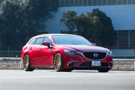 mazda wagon mazda 6 redefines the term swag wagon riding on vossen