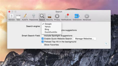 How To Make Safari Search In The Address Bar How To Change The Search Engine In Safari For Mac Os X